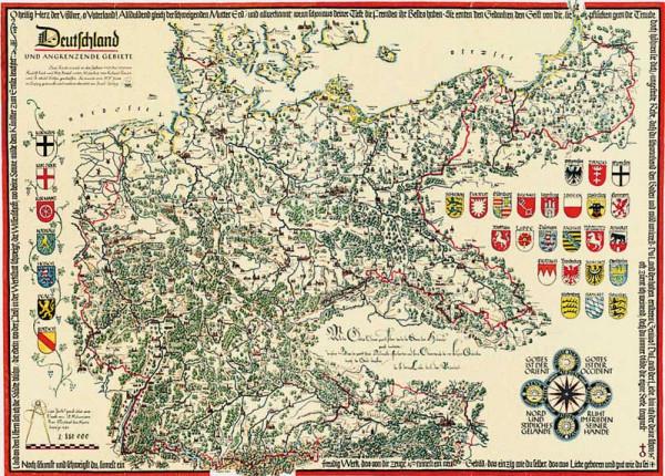 Deutschland und angrenzende Gebiete