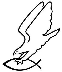 Adler greift Fisch