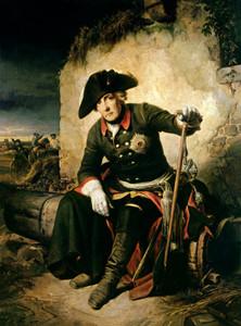 Friedrich der Große nach der Schlacht von Kolin (18. Juni 1757)