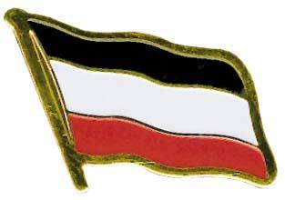 Anstecker Reichsfahne schwarz-weiß-rot