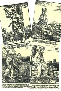 Holzschnitte: Deutsche Volkslieder, Mappe 2