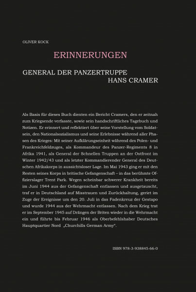 General der Panzertruppen Hans Cramer - Erinnerungen